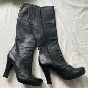 Aldo Leather Heeled Boots Size 9